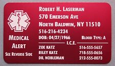 Personalized Metal Wallet Card Medical Alert - Free Custom Engraving
