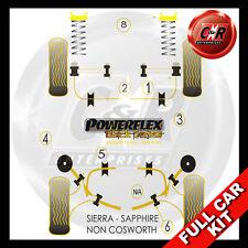 Ford Sierra Tutti Non-Cosworth Powerflex Nero Completo Kit Boccole