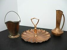 Gregorian Copper Set Of 3 Pieces Vintage Mid Century 1960's