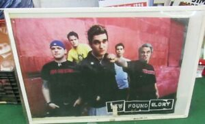 NEW FOUND GLORY POSTER NEW 2002 RARE VINTAGE COLLECTIBLE OOP LIVE