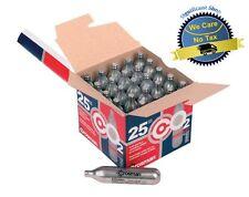 Crosman 12 Gram CO2 Cartridges Airsoft Gas Gun Pack of 25 Pellet BB Pistol Shoot