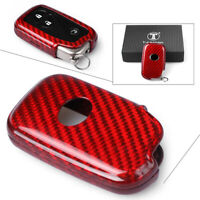 Real Carbon Fiber Remote Key Cover Fob Case For Lexus RX450 350 LX570 GS460