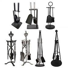 Crafters Companion Set Black Pewter Fireplace Cast Iron Brush Shovel Poker Tools