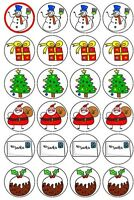 30-90 UNCUT EDIBLE WAFER CUP CAKE TOPPERS CHRISTMAS SANTA CLAUS SNOWMAN GIFT
