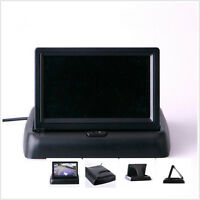 """Foldable 2-channel 4.3"""" LCD TFT Monitor Car RearView Reversing Parking Display"""