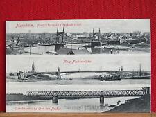 3-Bild-Fotokarte - Mannheim - 3 Brücken - ungel ca 1910    m