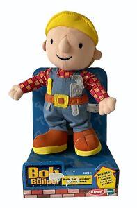 "Bob the Builder Talking 10"" Plush Toy 2001 Hasbro Playskool Doll NOS Working"