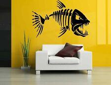 Wall Vinyl Sticker Decals Mural Room Design Art Sea Fish Skeleton Ocean bo671
