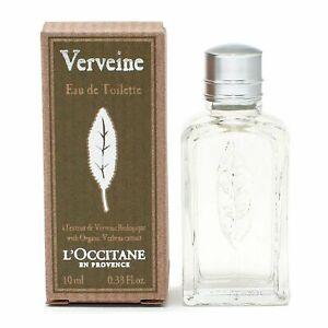 L'Occitane En Provence VERVEINE Eau de Toilette Splash 0.33 oz New in Box Perfum