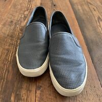 Vince Blair 5 Women's Size 6.5 Blue Gray Leather Perforated Slip On Sneakers