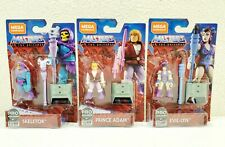 2019 Masters Of The Universe Mega Construx Evil-Lyn Skeletor and Prince Adam