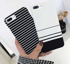 Zebra Stripes Black White Blue Phone Hard Case for iPhone X XR XS Max 8 7 6 Plus