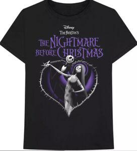 Nightmare before Christmas official merchandise heart t shirt