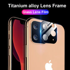 Metal Tempered Glass Canera Lens Screen Film Protector for iPhone 11Pro Max XR X