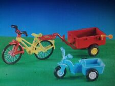Playmobil 7454 Tricycle & Bicycle w/ Trailer New in Sealed Bag!