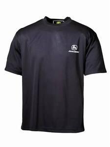 John Deere Mens Mag Cool T-Shirt - Black/Grey/White/Green Sizes S-XXL