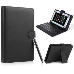 USB Keyboard Leather Folio Case For Samsung Galaxy Tab A 8.0 SM-T387V T387 2018