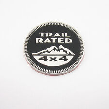 Stainless Metal 3D Relief Trail Rated 4x4 Emblem Decal Sticker Badge For Renault