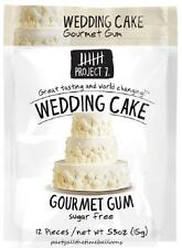 3 Packs Project 7 WEDDING CAKE Gourmet Gum NEW FLAVOR Free Shipping