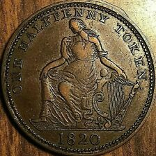 1820 TRADE AND NAVIGATION HALF PENNY TOKEN