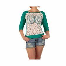 SUBLEVEL Damen Oberteil Tolles Kurzarm Top Stylisch Cool Elegant Shirt 3/4 Arm