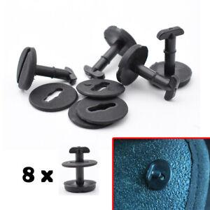 8X Twistlock Floor Mat Trim Clips for BMW Mini Cars Carpet Fixings 82119410191