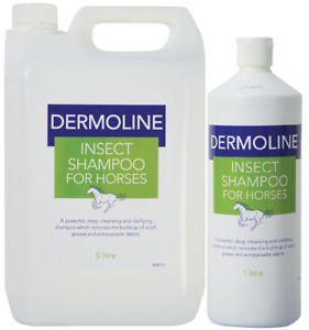 DERMOLINE Insect Horse SHAMPOO Powerful Deep Cleansing Scurf Grease Body Wash