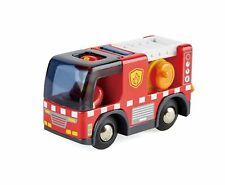 Hape E3737 Fire Engine avec sirène-Compatible with Wooden Train Set-Track...