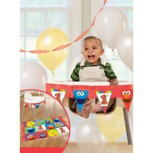 Party Supplies Sesame Street 1st Birthday Elmo  High Chair Kit
