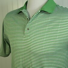 PING Performance Dynamics Golf  COOL Mesh Polo Shirt Spring Green Stripe Mens XL