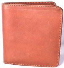 PIEL LEATHER Men's Hipster Bifold/Bi-Fold Wallet (Saddle 9058) >NEW<