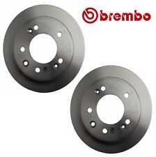 Pair Set of 2 Rear Solid Disc Brake Rotors Coated 262 Brembo For Hyundai Kia FWD