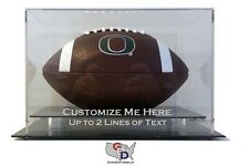 Desk or Counter Top Football Display Case Acrylic Custom Design Your Own Text