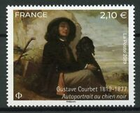 France 2019 MNH Gustave Courbet Dogs 1v Set Art Paintings Stamps