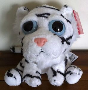 Russ Lil Peepers Tiiah The White Tiger Soft Plush Toy Medium