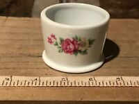 "Porcelain Votive Candle Holder, Floral Design 2 3/8""x2"""