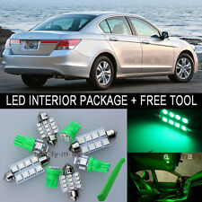 Green LED Interior Package Light Bulb 14X Kit For 03 2012 Honda Accord + Tool J
