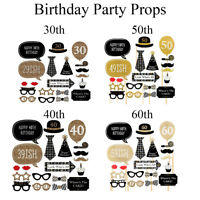 Funny Photo Booth Props Birthday Party Decoration for Dress Up Accessories 20pcs
