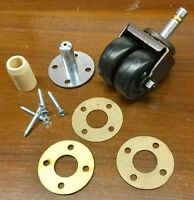 Faultless Double/Dual Rubber Wheel Piano Caster Kit w/Hardware & Tech Support