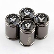 Titanium Black Auto Tire/Wheel Stem Air Valve CAPS Cove For Renault Accessories