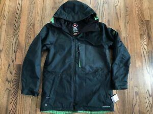 58 New Mens 686 Icon Insulated Jacket 2018/2019 Black Jacket Snowboard Large
