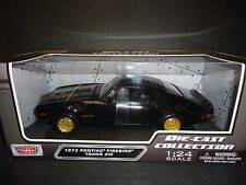 Motormax Pontiac Firebird Trans Am 1973 Black with Gold Eagle 1/24