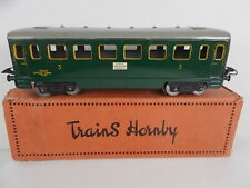 French Hornby O Gauge Passenger Coach - 3rd Class (Boxed)