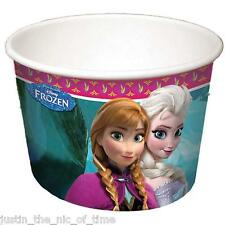 DISNEY FROZEN Girls Birthday Party 200ml Ice Cream Tubs Treat Tubs x8