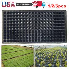 200 Cells Seeding Starter Tray Seed Germination Plant Propagation Black Plastic