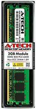 Tech 2GB PC2-6400 De Escritorio-A DDR2 800MHz 240-Pin DIMM Memoria RAM no código error-correcting 6400U 2G