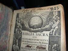 ORIGINAL 1651 Biblia Sacra Bible TETRAGRAMMATON JEHOVAH Watchtower research IBSA
