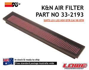 K&N Reusable Air Filter LS1 LS2 HSV OTR VCM CAI KN 33-2193 Commodore V8 OTR