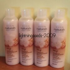 Avon NATURALS Body Care Cosy VANILLA & SANDALWOOD Shower Gel x4 Lots 200ml Size