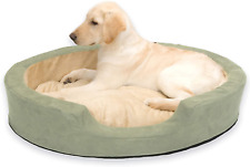 """New listing K&H Pet Products Thermo-Snuggly Sleeper Heated Pet Bed Large Sage 31"""" x 24"""" 6W"""